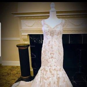 Venus Bridal Ivory Lace  Modern Wedding Dress